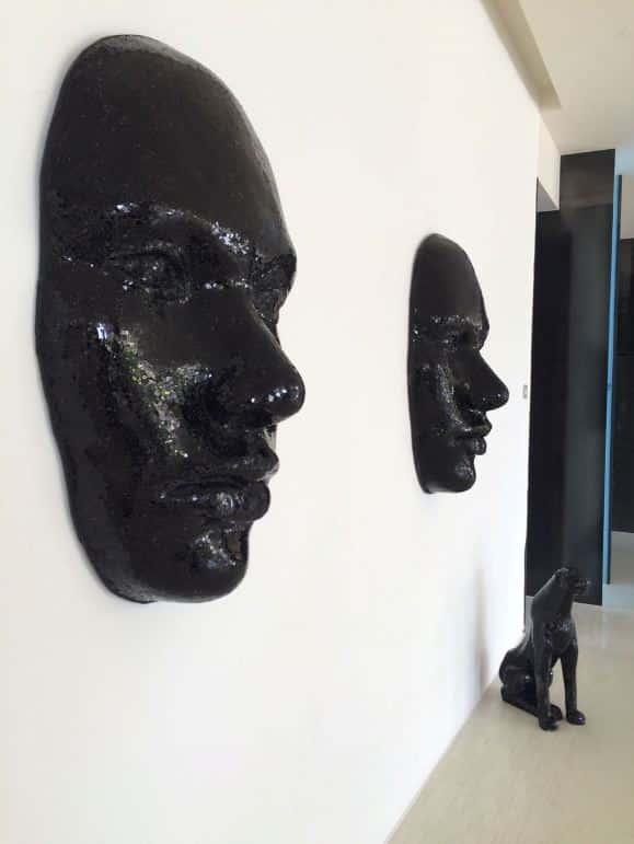 Pretty cool modern artwork at Amàre Marbella Beach Hotel