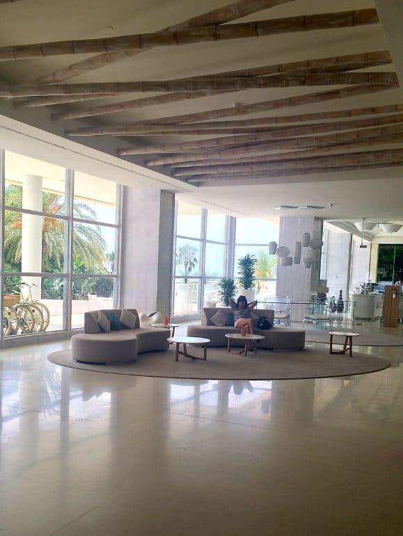 Public area of the Amàre Marbella Beach Hotel