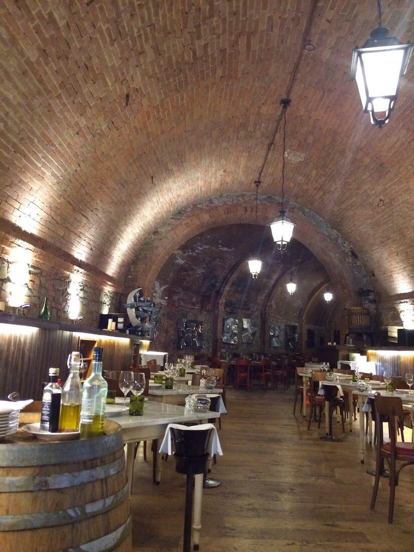 Tuscan restaurant at Castel Monastero
