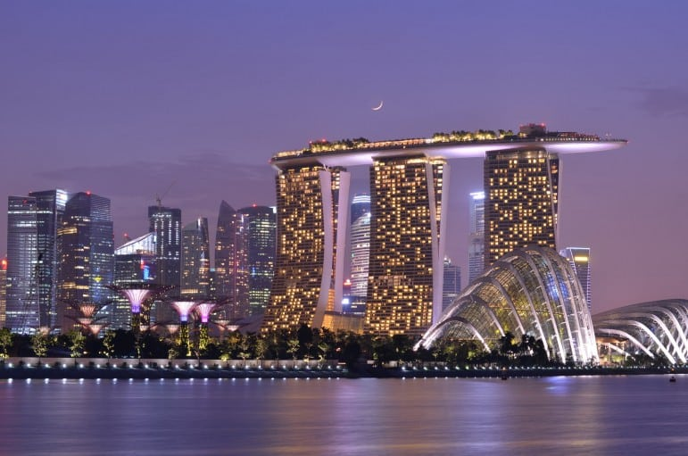 The dazzling Marina Bay Sands, Singapore - Photo by Nicolas Lannuzel