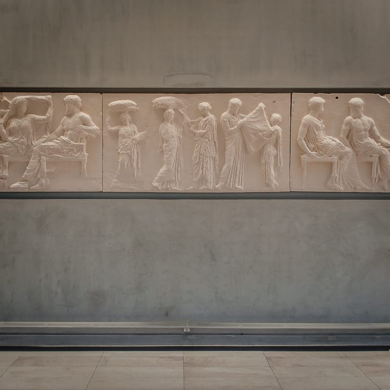 Friezes from the Parthenon at Athens' Acropolis Museum