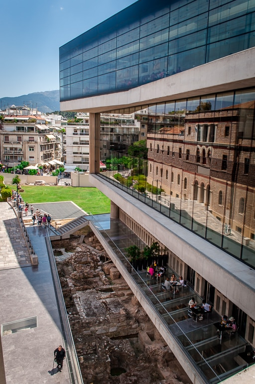 Layers of history at the Acropolis Museum, Athens