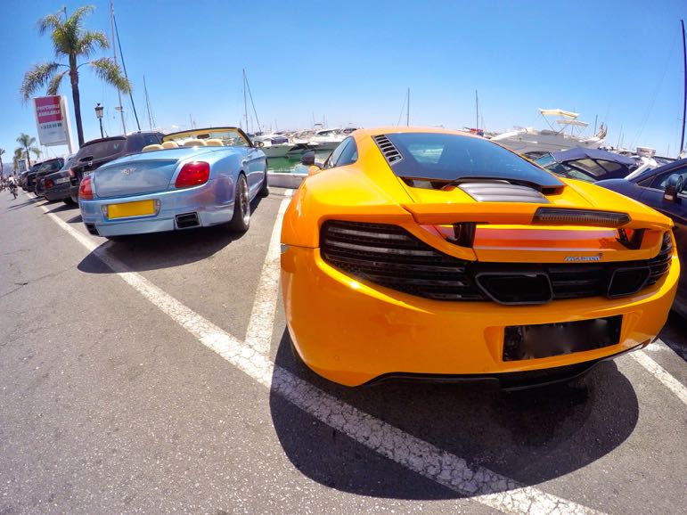 Places to go in Andalucia - luxury cars in Puerto Banus