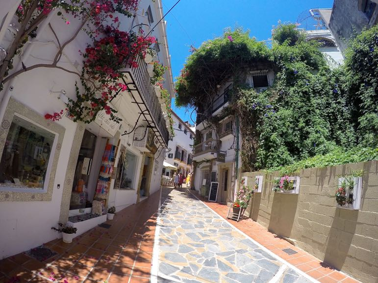 The charming old town in Marbella