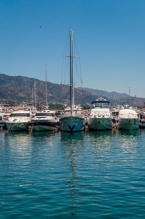 Places to go in Andalucia Spain - see the yachts in Puerto Banus