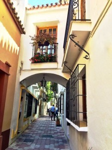 Places to go in Andalucia - cosy cobblestone streets in Marbella