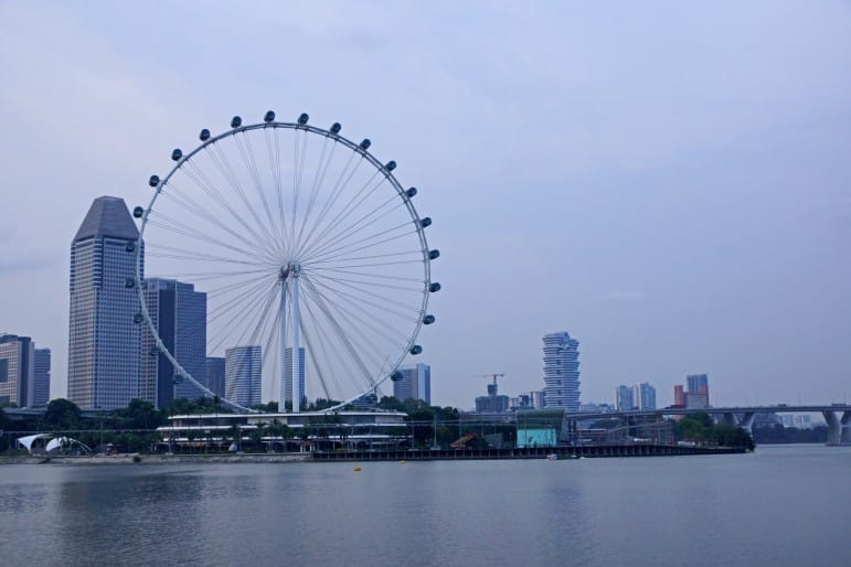 Places to go in Singapore - see more of the city on the Singapore Flyer | pic: Allie Caulfield