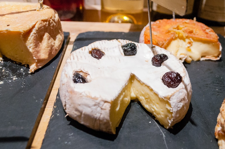 Brie at French cheese restaurant, Baud et Millet