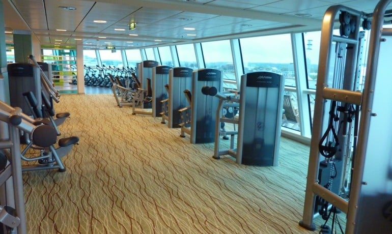 Stay healthy on your cruise with a gym session plus glorious sea views I Pic: Gary Bembridge