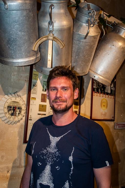 Chef Benjamin Monsinjon at French cheese restaurant Baud et Millet, Bordeaux