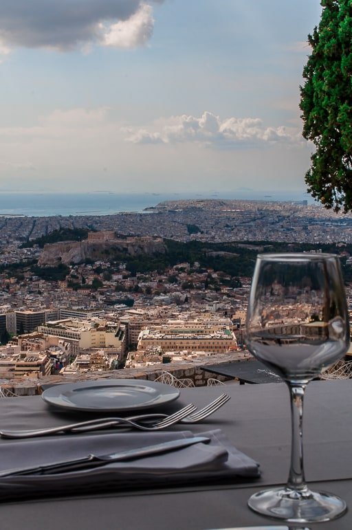 Places-to-go-in-Athens-include-the-Orizontes-restaurant on Lycabettus Hill