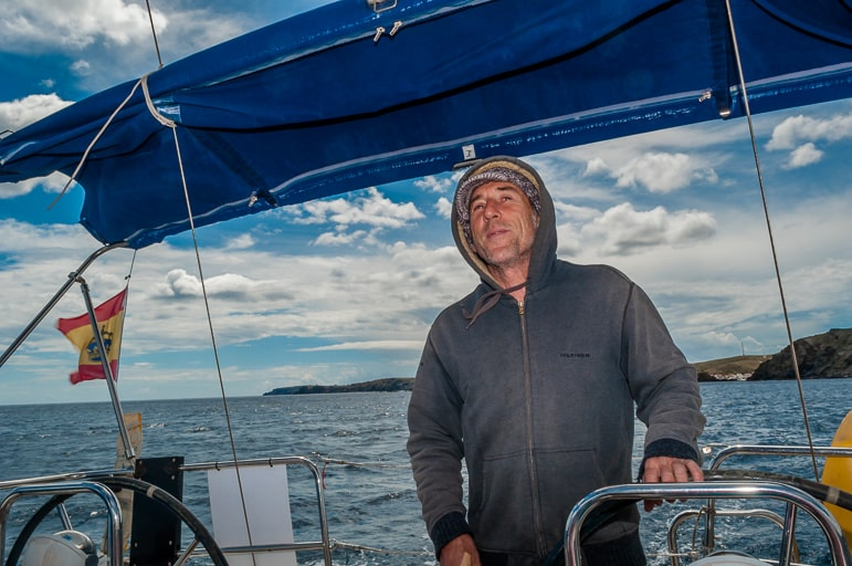 Sailing in Menorca - our captain, Jacob