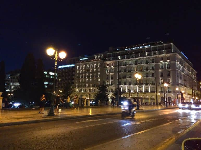The Grande Bretagne hotel on Syntagma square