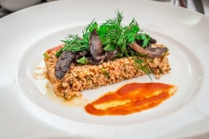 Wild mushrooms dish Electra Palace restaurant