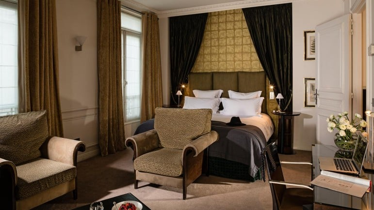 Where to stay in Paris for an elegant experience - Hotel De La Tremoille, one of many luxurious places to stay in Paris