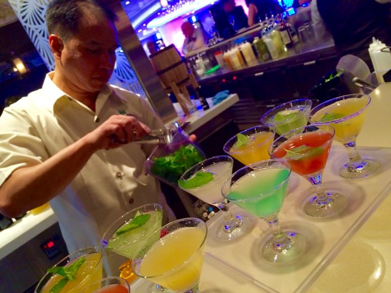 Ready for take off - mojito flights at Sugarcane Mojito, Norwegian Escape