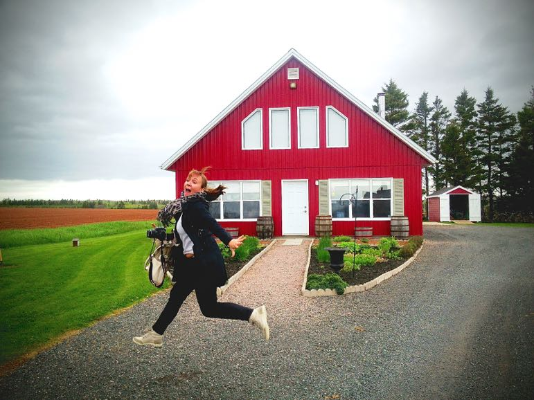 Red barns are a feature of Prince Edward Island's landscape