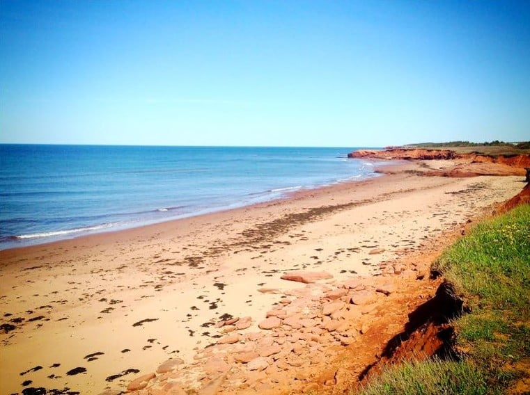 Red beach in Resort Cavendish, Prince Edward Island