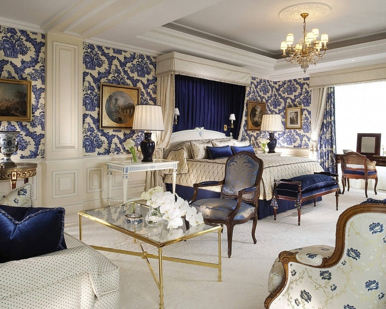 The Royal Suite at the Four Seasons George V - perhaps the most luxurious residence in Paris