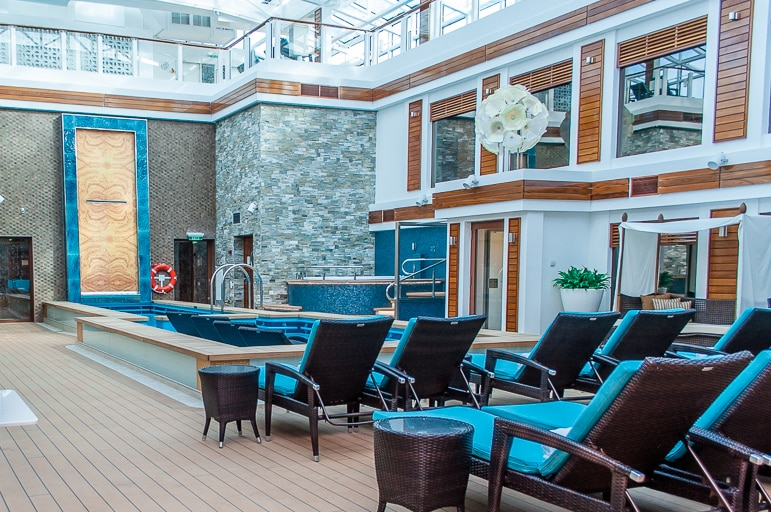 The courtyard in The Haven, Norwegian Escape