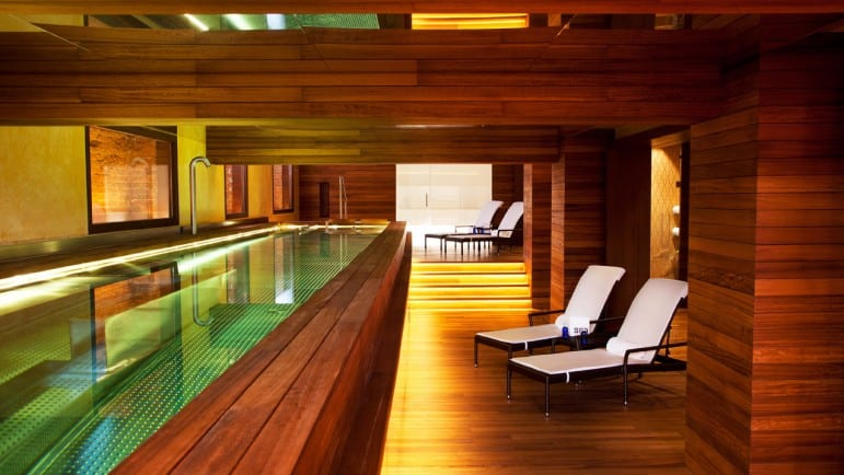Where to stay in Madrid: The hydrotherapy pool at URSO Hotel & Spa, one of many places to stay and relax in Madrid I Pic Urso Hotel & Spa