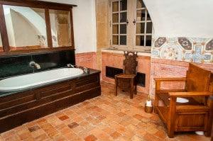 Bathroom at Chateau de Bagnols