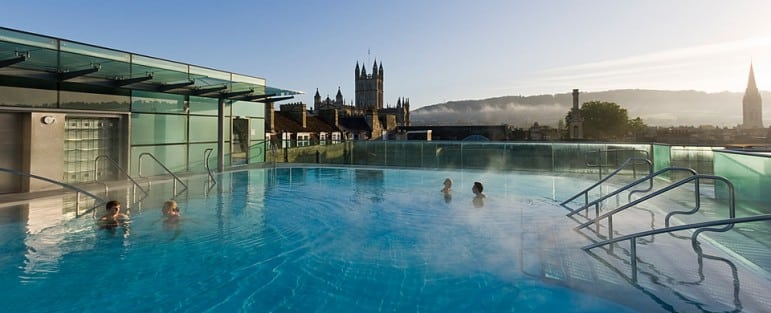 Best spa destinations to visit next - Bath, England is home to the historic Roman baths and perfect for a step back in time. Thermae Bath Spa is a contemporary spa with open air views of the city