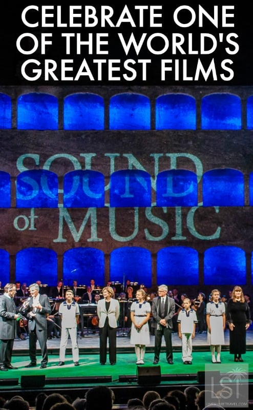 Celebrating the 50th anniversary of The Sound of Music film at a gala evening with the cast and listening to The Sound of Music songs in Salzburg
