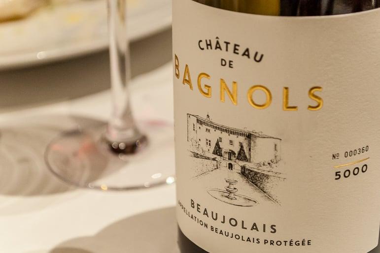 Bottle 360 of 5,000 of Chateau de Bagnols own Beaujolais