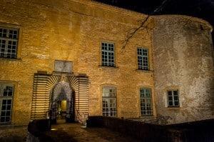Evening outside Chateau de Bagnols