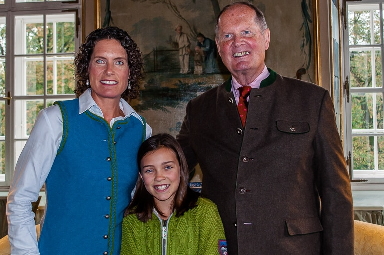 Johannes von Trapp, daughter Kristina and granddaughter Annie