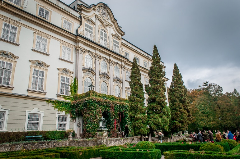 Leopoldskon Palace, the gardens were used as a set for The Sound of Music