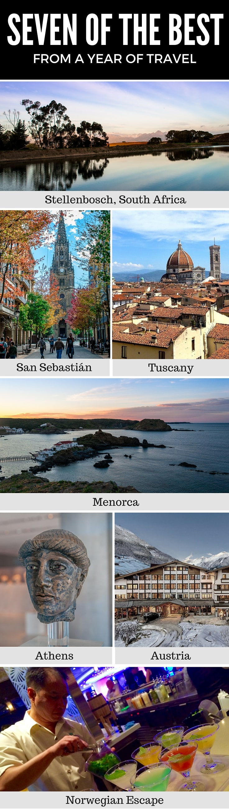 Seven of the best places to travel to
