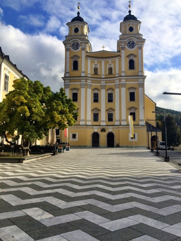 St Michael's basilica, Mondsee, the location of the wedding of Maria and the Captain.
