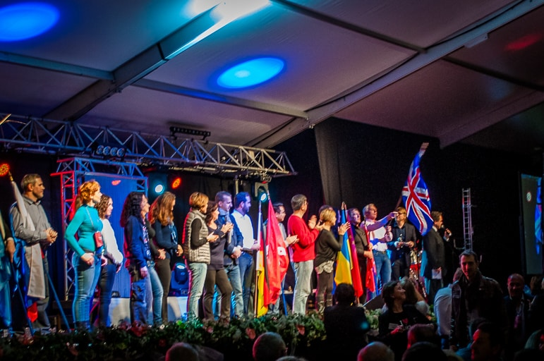All hail the Union Jack at Beaujolais Nouveau Day