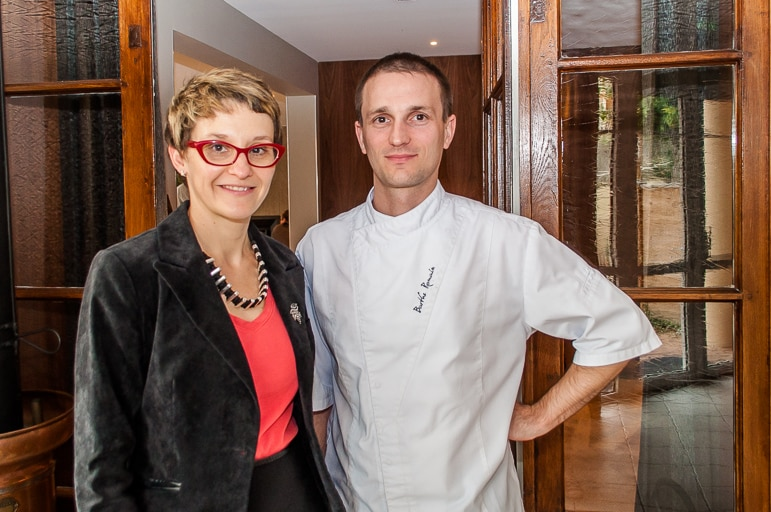 Delphine and Romain Barthe of Auberge de Clochemerle, in Beaujolais