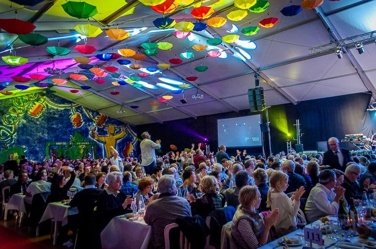 Fun and colour at Les Sarmentelles - the heart of the Beaujolais Nouveau celebrations