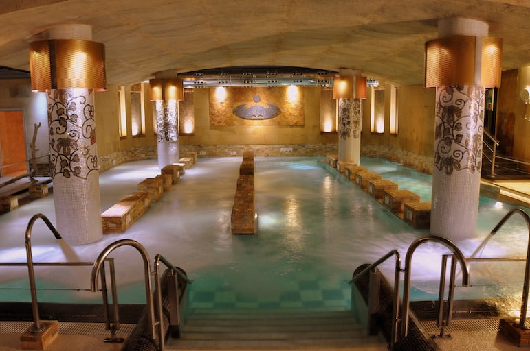 Main Thalassotherapy pool at La Perla Spa in European Capital of Culture San Sebastián