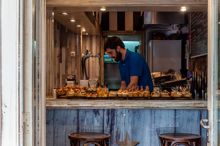 Get on the pintxos trail in San Sebastian