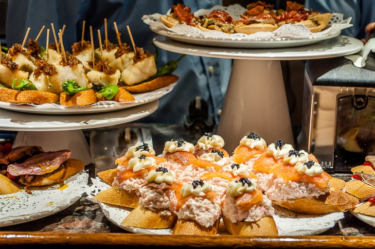 Plenty of pintxos at Gandarias, San Sebastian