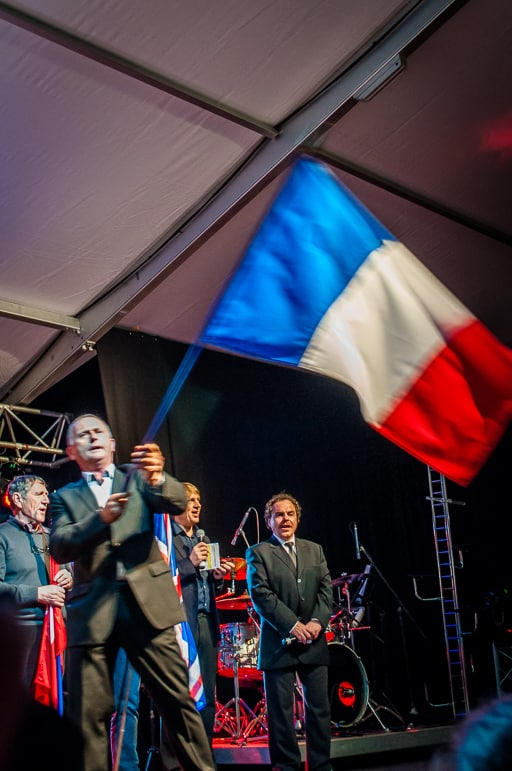 The Tricolore received an emotional welcome at Beaujolais Nouveau Day