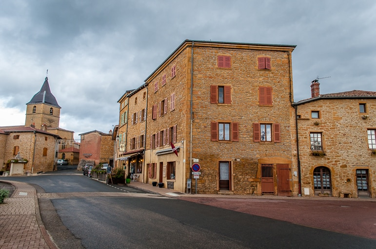The golden town of Bagnols in Beaujolais