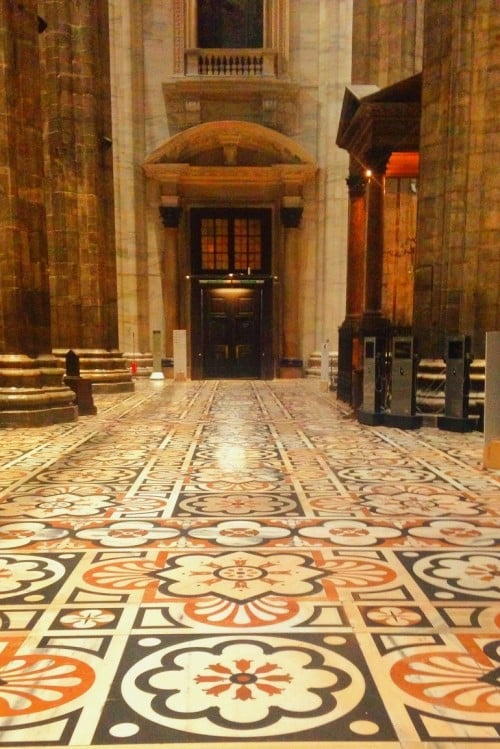 Things to do in Milan - the floor of the Duomo took more than 250 years to complete