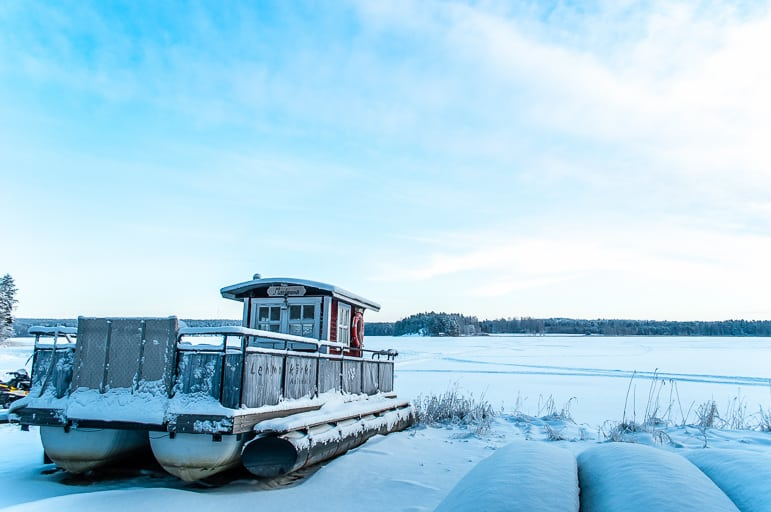 No time for boating, this land of a thousand lakes is frozen in winter