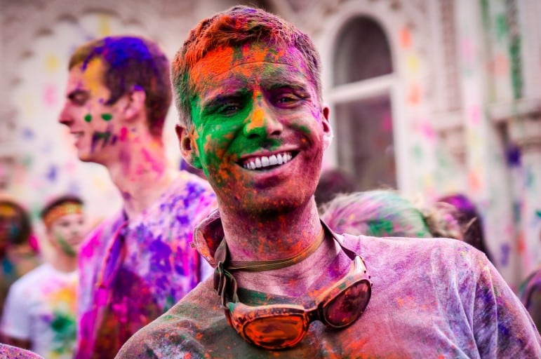 Festivals around the world - Holi is an important event in the Hindu calendar and a colourful one | pic: Steven Gerner