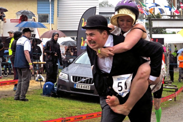 Finland's Wife Carrying Contest is a hilarious event for spectators |Pic: Visit Lakeland