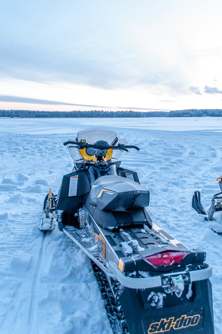 Snow mobile or ski-doo, whatever the name, it's great fun in the land of a thousand lakes