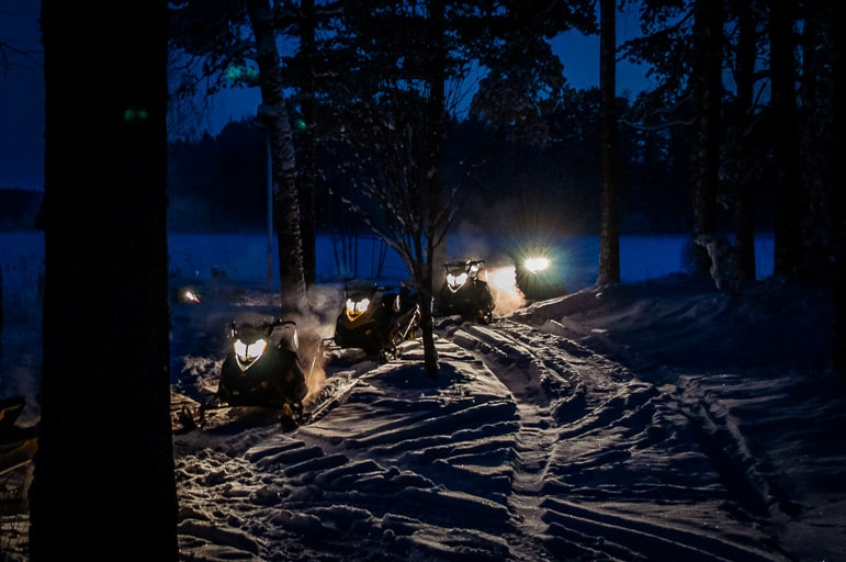 Snow mobiling in Lahti - Finland's land of a thousand lakes
