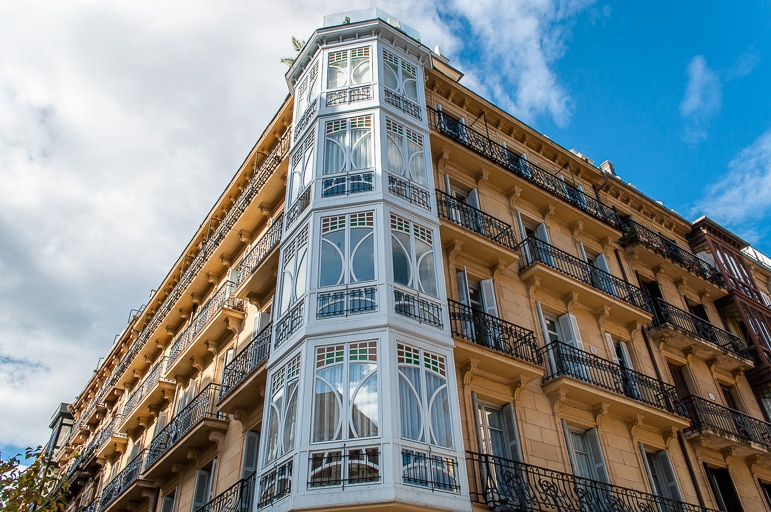 Beautiful balconies and bay windows in European Capital of Culture