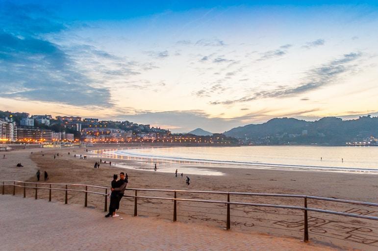 Enjoy the sunset along La Concha Promenade in European Capital o